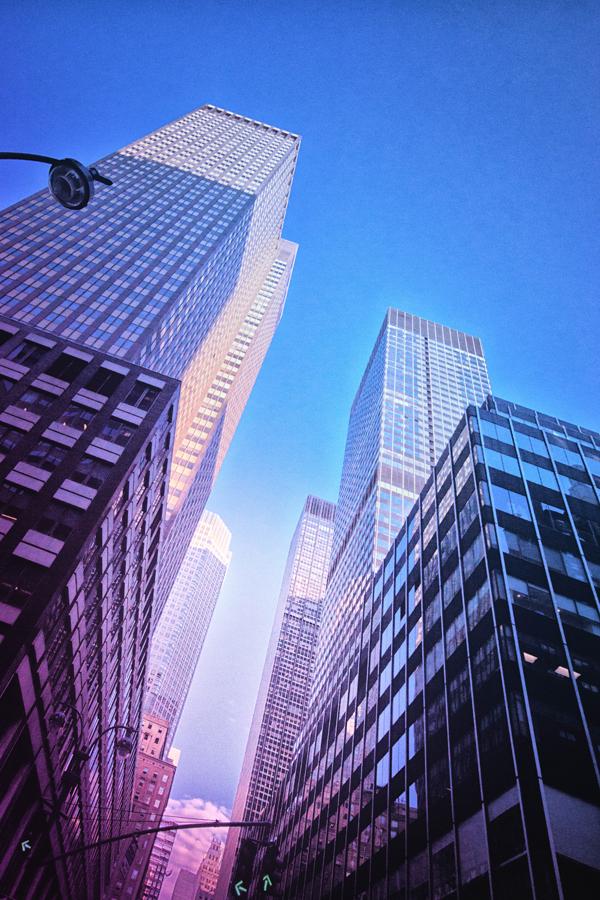 Zicht op verschillende gebouwen
